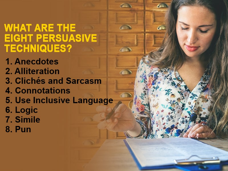 What are the Eight Persuasive Techniques?